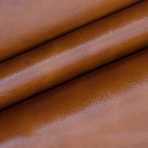 MUYUNXI Polipiel Cuero Artificial De Cuero para Tapizar Sofá Polipiel Silla Manualidades Cojines 160 Cm De Ancho Vendido por Metro(Color:Marrón Claro)