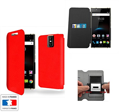 Case Industry INNOVATIVE Rouge Collection Serpent Oukitel K3 Schutzhülle mit internen Speicher Tür-Karte - Oukitel K3
