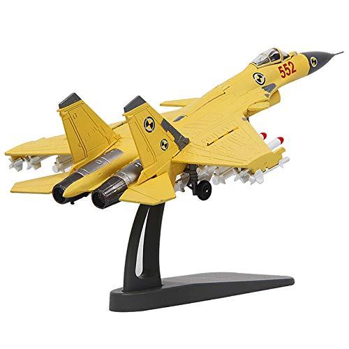 JHSHENGSHI Flugzeugmodell J-15 Flying Shark Fighter Plane Statisches Militärmodell, Modell im Maßstab 1: 100 mit Ständer, Geeignet für Milizen