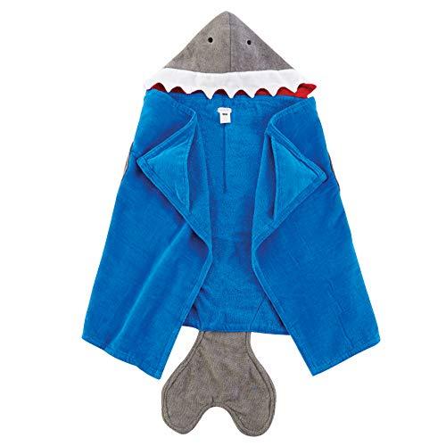 Mud Pie Baby Bath Boy, Shark Hooded Towel, One Size