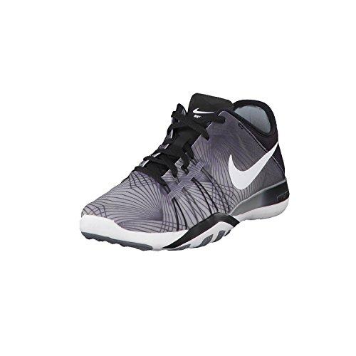 Nike WMNS Free tr 6 PRT - Hiking Schuhe, Damen, Farbe Schwarz (Black/White-cool Grey), Größe 37 1/2