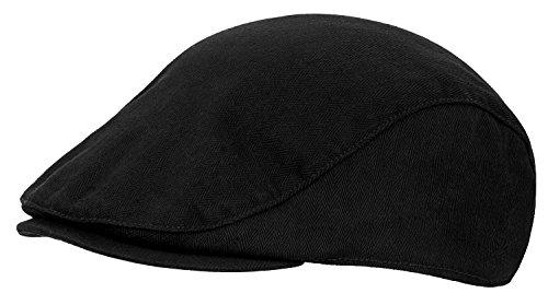 Tarjane® Vintage Ivy Flat Cap Golfermütze Schwarz L/XL