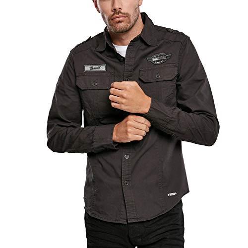 Brandit Luis Shirt Männer Langarmhemd schwarz 4XL