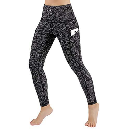 MEIbax Leggings Deportes Pantalones para Mujeres de Color sólido Entrenamiento Gimnasio Fitness...