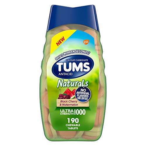 TUMS Naturals Ultra Strength Antacid Chews for...