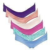 Intimate Portal Damen Schwangerschaftsslip Baumwolle Postnatale Unterhosen Umstandsunterwäsche 6er Pack XL Rosa Violett Rot Orange Grün Cremefarben