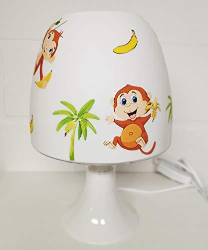 ✿ Tischlampe ✿ AFFEN 1 Dschungel Palme Banane Liane personalisiert Name ✿ Tischleuchte ✿ Schlummerlicht ✿ Nachttischlampe ✿ Lampe ✿