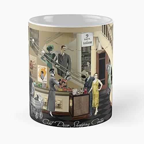 Purchase Dealer Shop Seller Shopping Money Store Center Customer Taza de café con Leche 11 oz