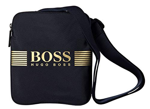 Hugo Boss Herren Umhängetasche - Pixel S Zip, Crossbody, Logo, 24x20,5x2cm (HxBxT) Marine