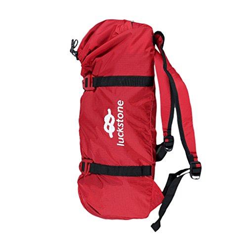 NON-Brand Nylon Plegable Escalada Cuerda Bolsa Equipo de Engranajes Soporte de Almacenamiento - Rojo