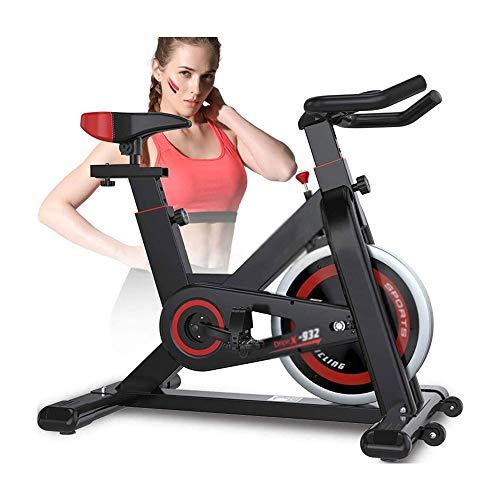UIZSDIUZ Ciclismo Indoor Bicicleta estática, Cinturón Directa del Volante Driven, Resistencia magnética, 3-Piezas de manivela con Asiento cómodo for el hogar Cardio Gym