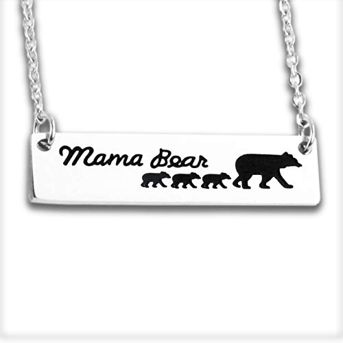 Necklaces for Women Bear Mama Bear Jewelry 3 Cubs Necklace Momma Bear Necklace with 3 Cubs for Mom Mother Grandmother Mommy
