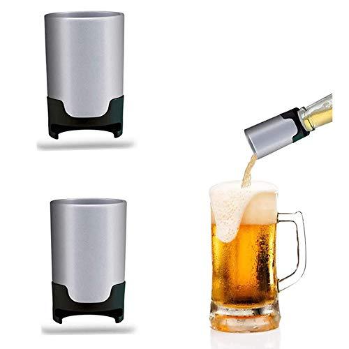 2 piezas de espumador de cerveza portátil, burbujeador de cerveza de acero inoxidable, dispensador de cerveza cremosa, dispensador de espuma para cerveza, burbujeador de cerveza, bricolaje sónico,