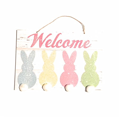 Easter Welcome Hanging Wall Plaques Home Decor Decoration