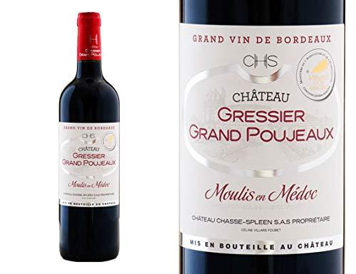 CHÂTEAU GRESSIER GRAND POUJEAUX ROUGE 2012 - Moulis-en-Médoc - France- Rouge - 0.750 l