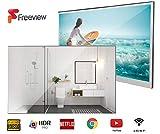 Soulaca 22 Zoll Smart Spiegel TV IP66 wasserdicht TV für Badezimmer, Hotel mit Fernbedienung...