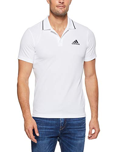 adidas Herren Club Tex Kurzarm Polo-Shirt, White, L
