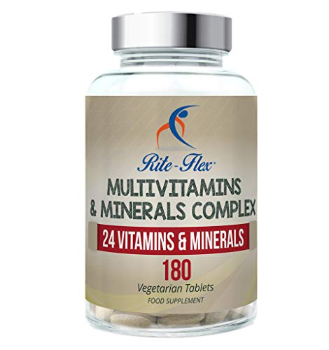 Rite-Flex, Integratore Alimentare Multivitaminico e Multiminerale con 24 nutrienti chiave (180 Compresse)
