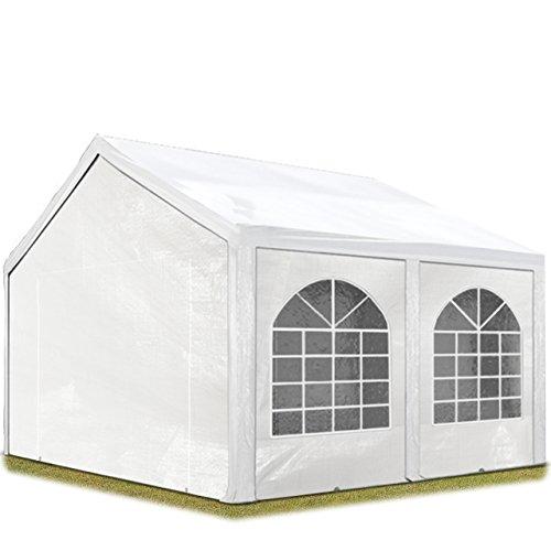 TOOLPORT Hochwertiges Partyzelt 4x5 m Pavillon Zelt 240g/m² PE Plane Gartenzelt Festzelt Wasserdicht weiß