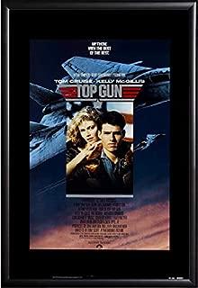 Top Gun Movie Poster Framed (Black)