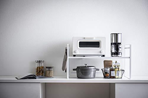 こちらは幅65.5cmのワイドタイプ。トースターと一緒に、お鍋や家電などをひとまとめに置けますよ。耐荷重は約20kgなので、家電を2つ置いても大丈夫!