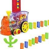 60 Stück Domino Zug Spielzeug Set, Kinder Domino Elektrozug Elektrischer Zug Intelligenz Domino Lernspielzeug Set Mädchen Junge Kinder Geschenk Puzzle Spielzeug