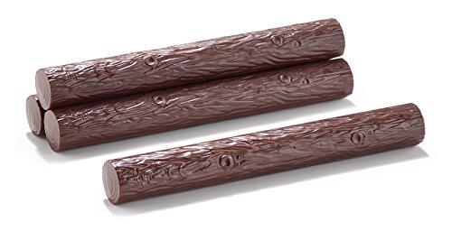 Siku 7049, Zubehör-Set Baumstämme, 1:32, Kunststoff, Braun, 10 Stück, Kombinierbar mit bestehenden Spielwelten