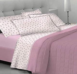 Goldenhome Emma - Juego de sábanas completo para cama de matrimonio: par de fundas de almohada + sábana bajera con esquinas + sábana encimera