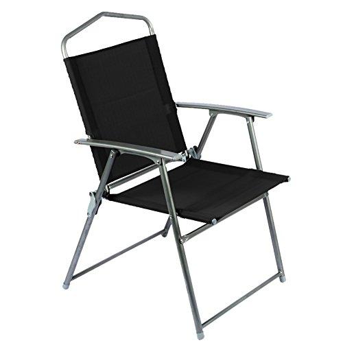 BAKAJI Sedia Pieghevole in Alluminio con Braccioli Campeggio Spiaggia Giardino Dimesnione 92 x 56 x 61 cm