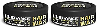 2 PC ELEGANCE TRANSPARENT POMADE HAIR STYLING WAX FOR STRONG HOLD 150 ML