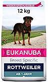 Eukanuba Breed Specific Rottweiler Trockenfutter - optimal auf die Rasse abgestimmtes Premium Hundefutter mit Huhn, 12 kg