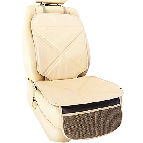 LMHX Anti-Rutsch Kinderautositze Autositzauflage Universal Kindersitzen Autositzschutz, Geeignet für Isofix-Schnittstelle, 3 Farben Optional,Beige