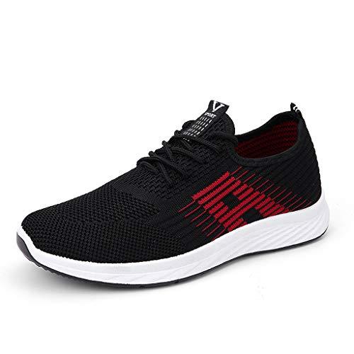Zapatos de Running para Hombre Gimnasia Ligero Sneakers Malla Transpirable Zapatillas Deportivas para Correr Casual Zapatos Gimnasio Sneakers 38-44 riou