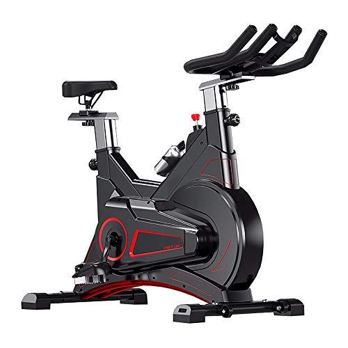 YSXD Bicicleta estática de Spinning Fitness, vicicleta estatica, Profesional Bicicleta Indoor, Ajuste de Resistencia de Engranaje 0-100 Física + Magnetrón Diseño de Puente de Arco Rueda móvil