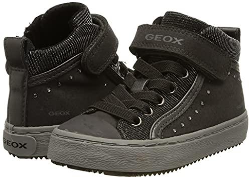 Geox Mädchen J Kalispera Girl I Hohe Sneaker, Grau - 7