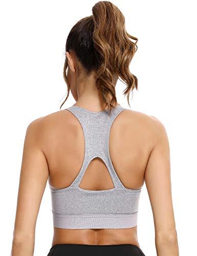 Sykooria Damen Sport BH Nahtlos Bralette mit Abnehmbare Pads für Gym Fitness Workout Laufen