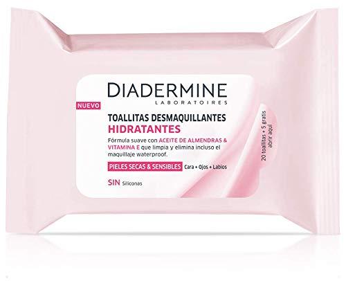 Diadermine Toallitas Desmaquillantes Hidratantes - 25 uds de toallitas