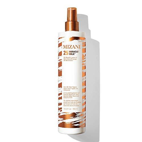 MIZANI 25 Miracle Milk Leave-In Conditioner | Moisturizing Detangler Spray | for Frizzy & Curly Hair | 13.5 Fl Oz