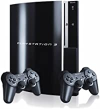 Sony Playstation 3 80GB Piano Black Console with 2 Controllers (Renewed)