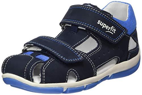 Superfit Baby Jungen Freddy Sandalen, Blau (Blau/Blau 80), 27 EU