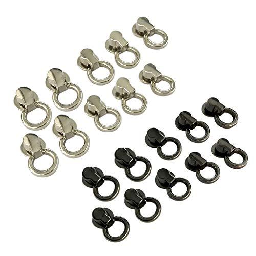 sharprepublic Set van 20 metalen klinknagels met ring, ronde kop schroefknop studs schroef voor doe-het-zelf tassen, riemen, lederen armbanden, schoenen, laarzen, handtassen, Hü