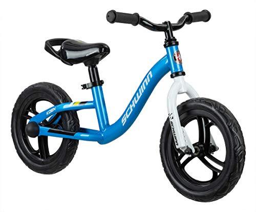 Schwinn Koen Boys Bike for Toddlers and Kids, 12-Inch Balance Bike, Blue