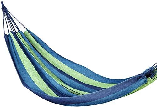 BZLLW Hammock,Single Outdoor Garden Camping Hammock,Cotton Soft Swing Sleeping Portable with Carrying Bag,for Patio Yard Garden Backyard Porch Travel (Color : Blue, Size : 190x80cm(75x31inch))