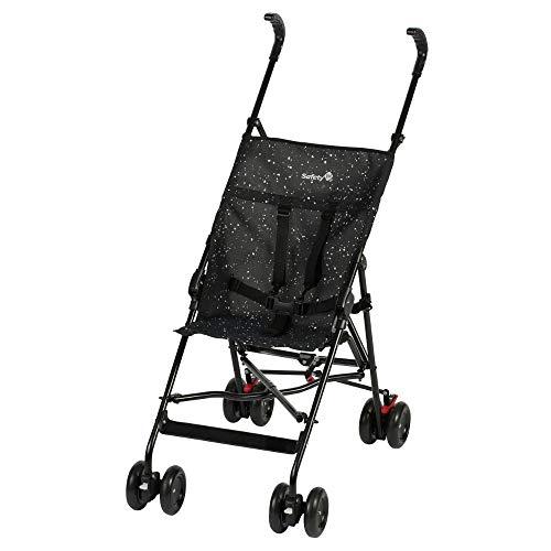 Safety 1st Peps Buggy, wendiger Kinderwagen nutzbar ab 6 Monate bis max. 15 kg, kompakt zusammenfaltbar, mit Feststellbremse und 5-Punkt-Gurt, wiegt nur 4,5 kg, schwarz/weiß gepunktet