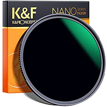 K&F Concept 72MM ND Filter ND1000 10 Stops Neutral Density Lens Filter HD 18 Layer Neutral Grey ND Lens Filter with Multi-Resistant Nano Coating for Canon Nikon Lens