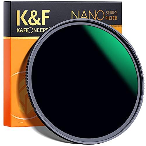 K&F Concept 55mm ND1000 Filter 10 Stops ND, Solid Neutral Density Lens...