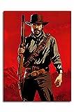 Red Dead Redemption 2 Canvas Wall Art 24' x 36' Game Poster Arthur Morgan Art Print Poster Chic Office Art, Unframed/Frameable