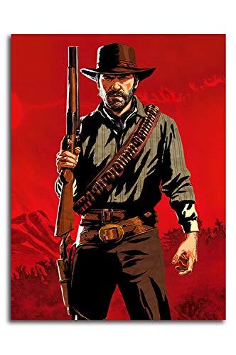 Red Dead Redemption 2 Leinwanddrucke, Wanddekoration, 50,8 x 71,1 cm, Spielposter Arthur Morgan Wandkunstdrucke Büro Home Decor Kunstwerk, ungerahmt / rahmenbar