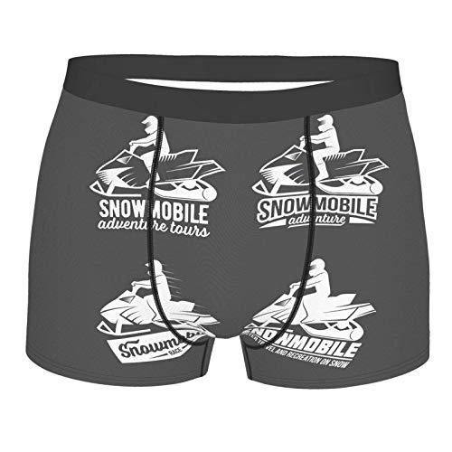 YURONG Boxershorts Grises Herren de Moto de Nieve, 2er Pack leichte Micro-Stretch Unterwäsche Shorts, Valentinstag