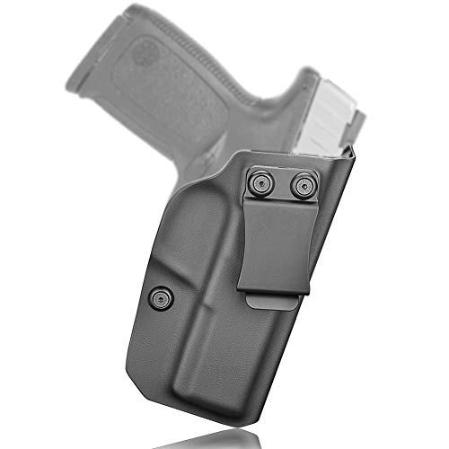 IWB KYDEX Holster Fit S&W SD9 VE & SD40 VE, Appendix Concealed Carry Inside Waistband, US KYDEX Made - Right Handed (Black)